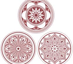Vector Classic Medallion Ornament