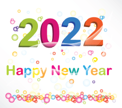 Happy New Year 2022 Vector Background