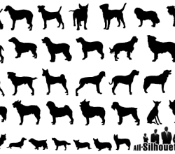 Vector Dogs Silhouettes Free Illustrator Pack
