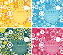 Vector Retro Circles Design Background