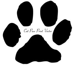Vector Cat Paw Print Image