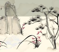 Vector Japanese Background Design