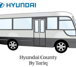 Hyundai County Bus Vector