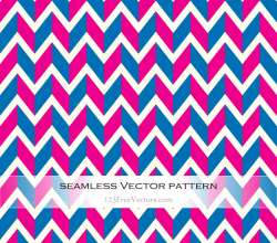 Blue and Pink Chevron Pattern Vector