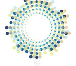Vector Abstract Circle Halftone Shape