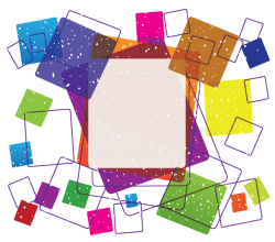 Colorful Square Frame Vector Free