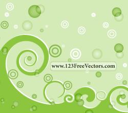 Green Swirl Background Vector