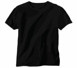 Free Vector Black Shirt Template