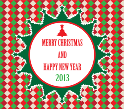 Merry Christmas and Happy New Year 2013 Vector Illustration