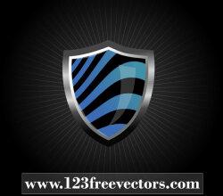 Glossy Wave Striped Shield