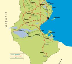Vector Map of Tunisia