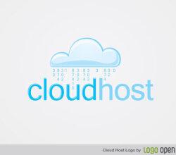 Cloud Host Logo Vector