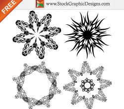 Beautiful Ornate Design Elements Free Vector Art