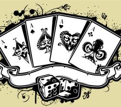 Vector Poker Aces Casino Illustration
