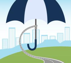 Umbrella Over City – Protection Concept