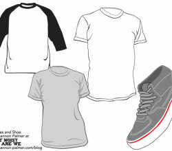 Free Tees And Shoe Vector