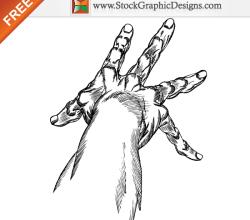 Hand Drawn Hands Free Vector Art