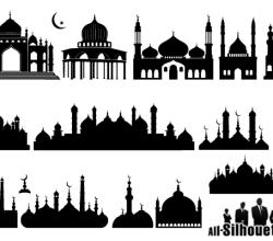 Islamic Mosque Silhouette Vector Art