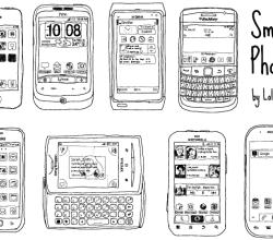 Hand Drawn Smart Phone Vector