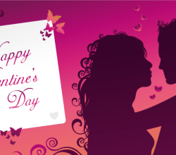 Vector Happy Valentine's Day Greeting Card Image