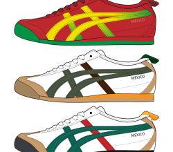 Asics Shoes Vector