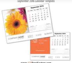 September 2016 Calendar Template