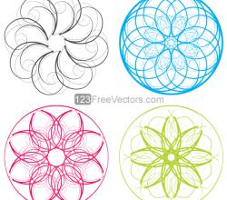 Vector Circle Decorative Design Elements Set-2