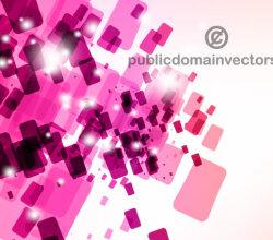 Vector Pink Tiles Background Design