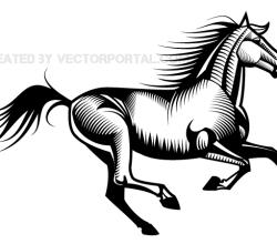 Galloping Horse Vector Art