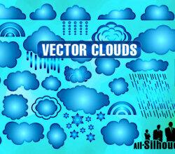 Clouds Free Vector Illustrator