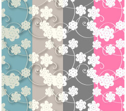Paper Flowers Free Photoshop and Illustrator Patterns