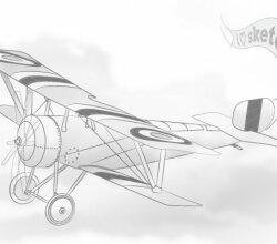 Vector Vintage Airplane