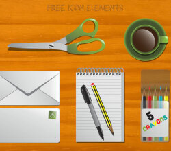 Free Office Icons Vector Collection
