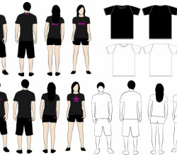 Tshirt Models Vector