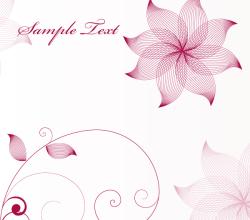 Stylish Flower Vector Background