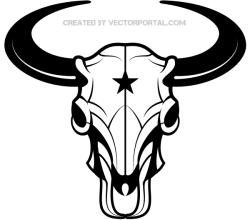 Bison Skull Vector Image