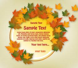 Autumn Banner Circle Design Vector Free