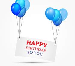 Happy Birthday Banner Clipart Vector