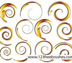 Vector Swirl Ornaments Set