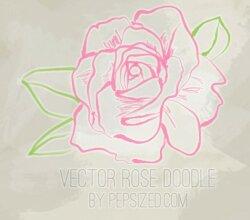 Vector Rose Doodle
