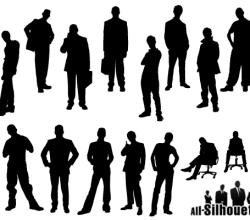 Free Man Silhouette Vector Pack