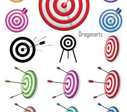 Vector  Arrow Bullseye Target