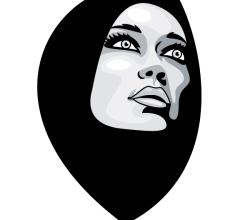 Woman in Burka Vector Image