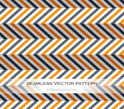 Orange and Grey Seamless Chevron Pattern