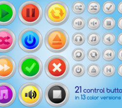 Vector Audio or Video Control Buttons