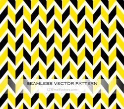 Yellow and Black Chevron Pattern Background