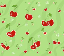 Vector Cherry Pattern