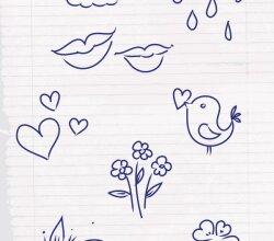 Vector Doodle Sketch Illustrator Pack