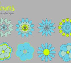 Download Simple Vector Flowers