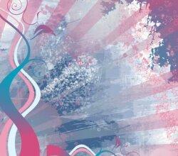 Feminine Grunge Background with Floral